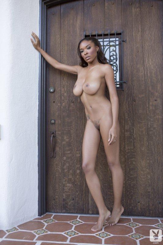 Аппетитная голая негритянка