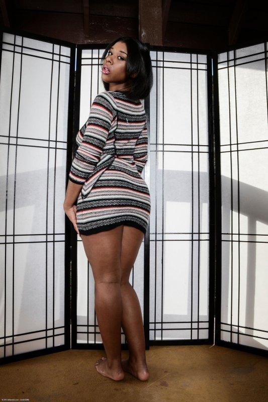 Фото большой жопы негритянки с бритой гладкой киской
